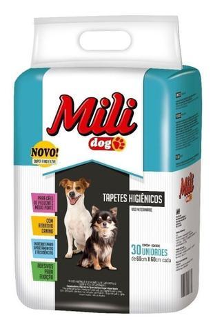 Imagem de Tapete Higiênico Para Cães Mili Dog 60x60cm - pacote com 30 unidades