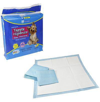 Imagem de Tapete higienico super absorvente para caes com 7 unidades 56x60cm