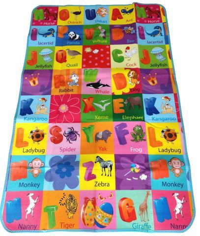 Imagem de Tapete Infantil Bebê Atividade Educativo 1,80mtx1,15mt Tema ABC ANIMAIS