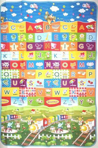 Imagem de Tapete Infantil Bebê Atividade Educativo 1,80mtx1,15mt Tema ABC TRENZINHO