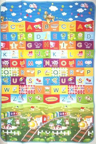 Imagem de Tapete Infantil Dobrável Protetor Térmico 1,80mtx1,15mt Tema ABC TRENZINHO