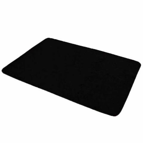 Imagem de Tapete Liso para Quarto e Sala Tecido de Pelúcia 70cm x 50cm - Preto