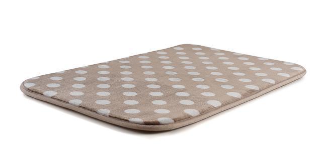 Imagem de Tapete para banheiro soft com memória bege poá