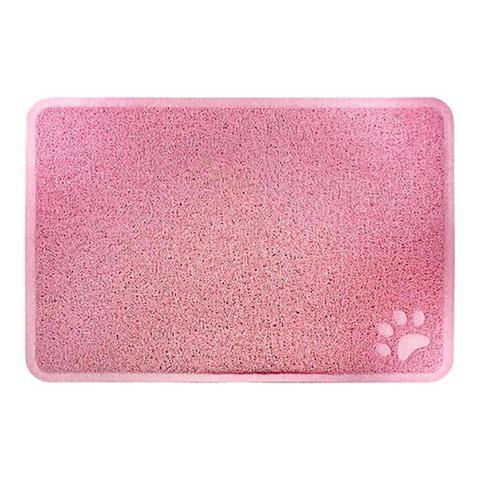 Imagem de Tapete para Cachorro e Gato Trap Mat Porta Comedouro Jambo Pet Rosa