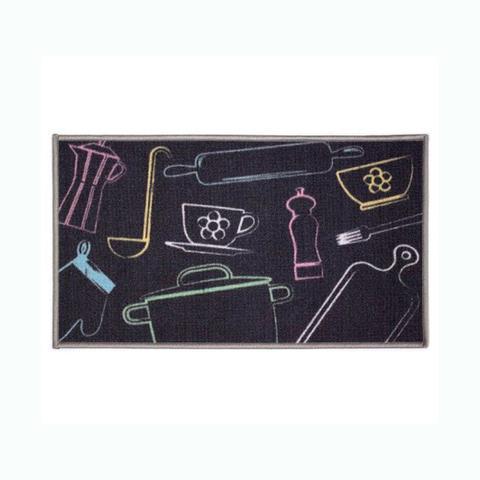 Imagem de Tapete para Cozinha Kapazi Gourmet 80x50 cm Cozinha com Antiderrapante