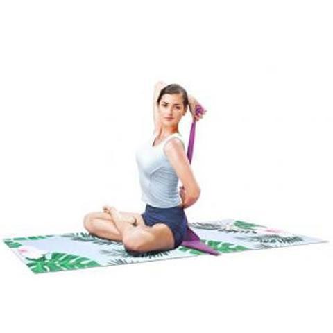Imagem de Tapete Para Prática De Ioga - Cor Tropical Verde