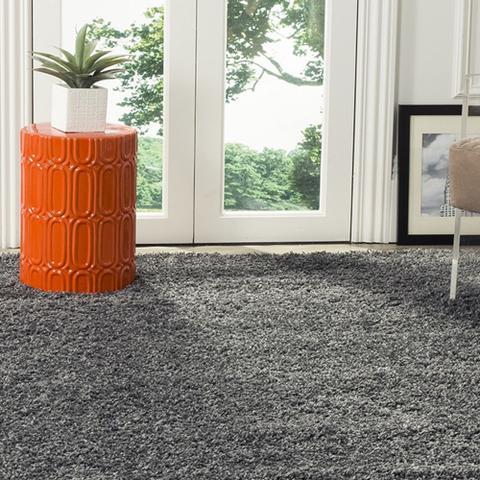 Imagem de Tapete para Sala e Quarto Peludo Luxo Casa Dona 100x150cm Prata Platinum