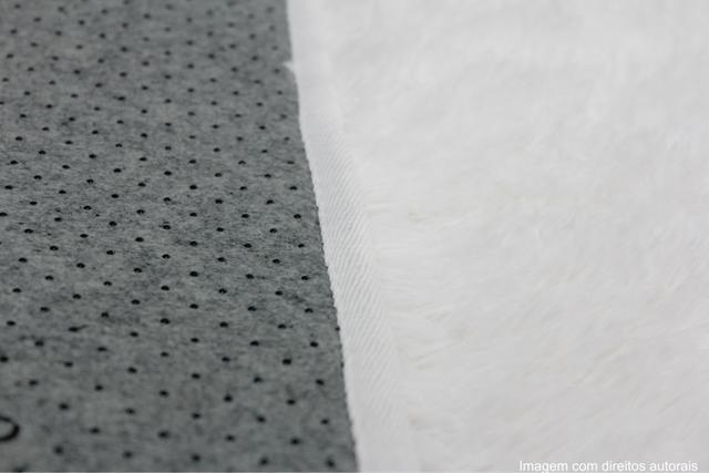 Imagem de Tapete para sala peludo felpudo 1,40x1,00 Branco