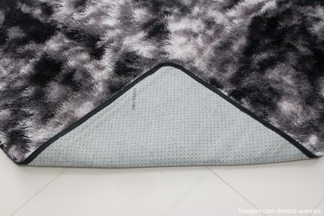 Imagem de Tapete para sala peludo felpudo 1,40x1,00 Preto Mesclado