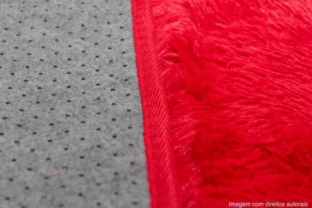 Imagem de Tapete para sala peludo felpudo 1,40x1,00 Vermelho liso