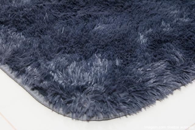 Imagem de Tapete para sala peludo felpudo macio 1,40x2,00 cinza liso