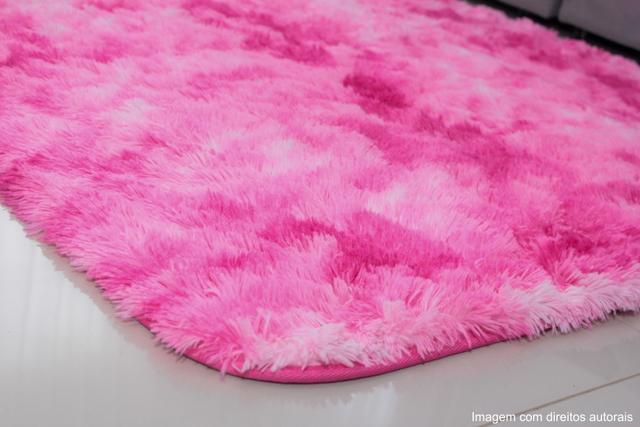 Imagem de Tapete para sala peludo felpudo macio1,40x2,00 rosa mesclado