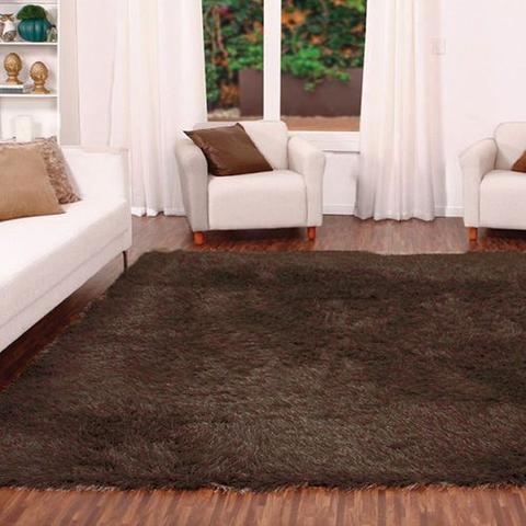 Imagem de Tapete para Sala Quarto Luxo Liso Peludo Retangular 140X100cm Casen