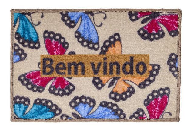 Imagem de TAPETE PORTA DE ENTRADA 40CMx60CM BEM VINDO BORBOLETAS