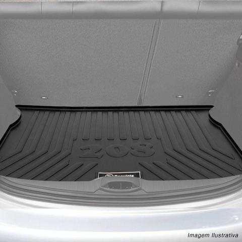 Imagem de Tapete Porta Malas Bandeja Peugeot 208 2012 a 2017 Preto Fabricado em PVC com Bordas de Segurança