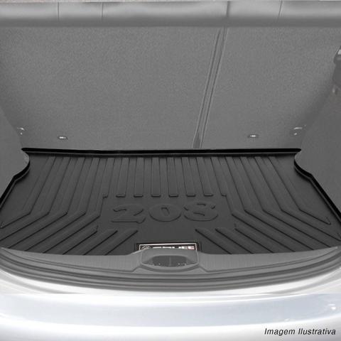 Imagem de Tapete Porta Malas Bandeja Peugeot 208 2012 a 2018 Preto em PVC Impermeável 1 Peça Shutt