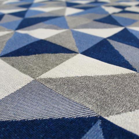 Imagem de Tapete Sala Antiderrapante Mosaico 1,32X2,00 Azul