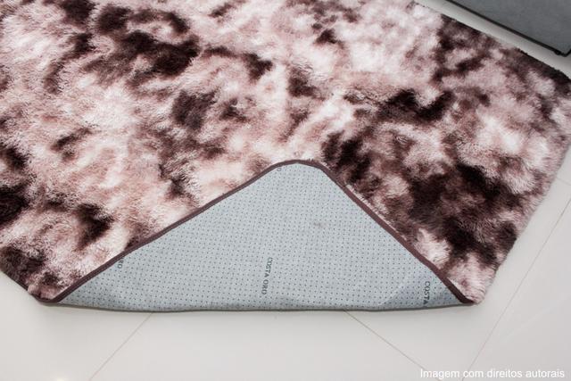 Imagem de Tapete sala peludo felpudo 1,40x2,00 marrom mesclado claro
