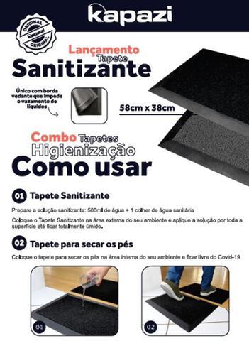 Imagem de Tapete Sanitizante - Kit tapete sanitizante pedilúvio mais tapete secante Dry Feet