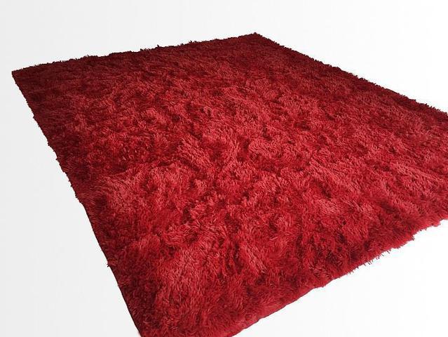 Imagem de Tapete Saturs Shaggy Pelo Alto Vinho  - 50 x 100 cm Tapete para Sala e Quarto