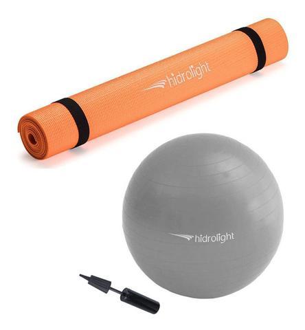 Imagem de Tapete Yoga Pilates Ginástica 4mm C/ Alça + Bola 75cm Combo