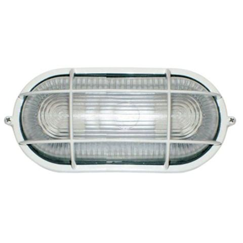Imagem de Tartaruga Oval 20cm Aluminio Pint. Epoxi E-27 1 Lamp. Max 60w C/ Grade Branca