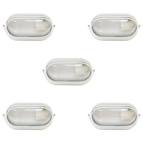 Imagem de Tartaruga Oval 20cm Aluminio Pint. Epoxi E-27 1 Lamp. Max 60w Meia Cana Branca 5 unidades
