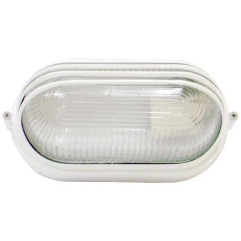 Imagem de Tartaruga Oval 20cm Aluminio Pint. Epoxi E-27 1 Lamp. Max 60w Meia Cana Branca