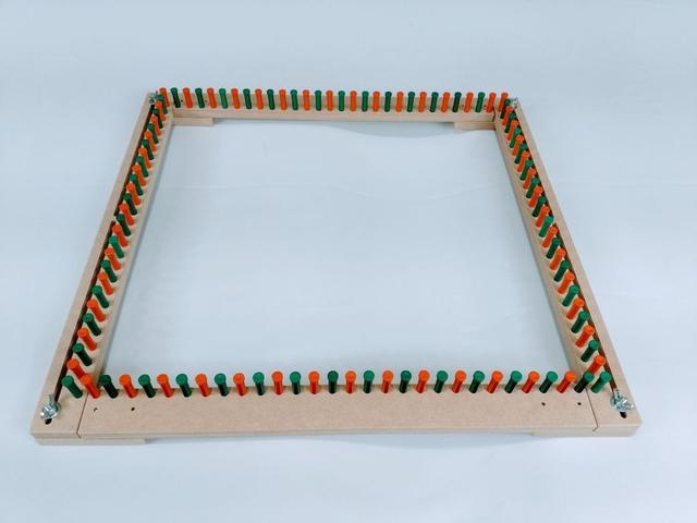 Imagem de Tear Regulável 3 Em 1 Quadrado Retângulo Linear + Agulhas