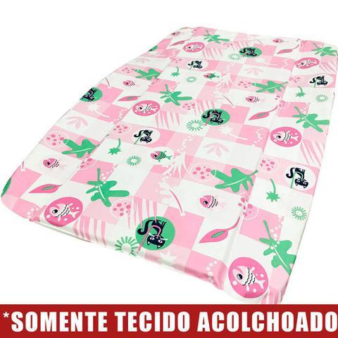 Imagem de Tecido Acolchoado para Trocador da Banheira Burigotto Splash - Peixinho Rosa