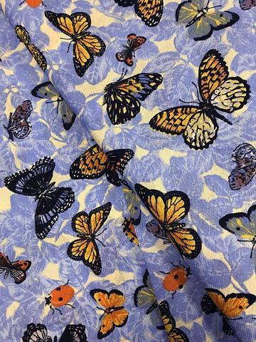 Imagem de Tecido para decoração Gorgurinho borboletas azul