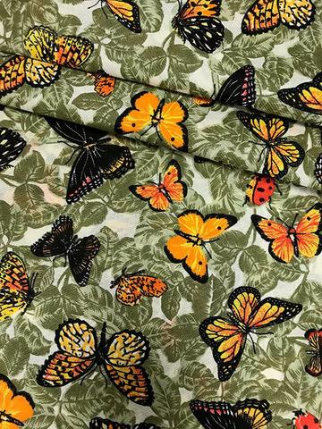 Imagem de Tecido para decoração Gorgurinho borboletas verde