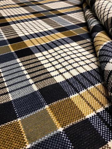 Imagem de Tecido para decoração Gorgurinho xadrez azul cinza bege