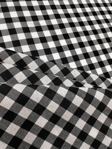 Imagem de Tecido para decoração Gorgurinho xadrez branco preto