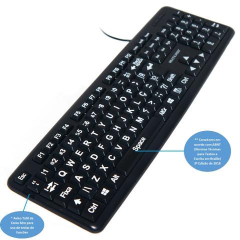 Teclado Braille Multilaser