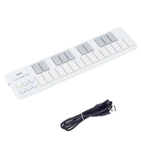 Imagem de Teclado Controlador Korg Nanokey2 USB MIDI Branco