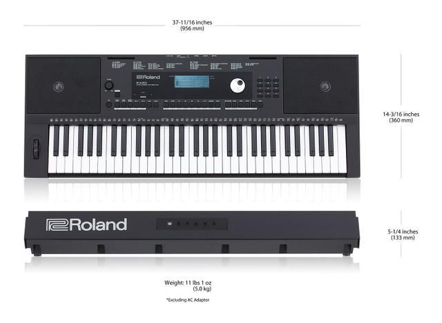 Imagem de Teclado Digital Arranjador 61 Teclas E-X20A - Roland