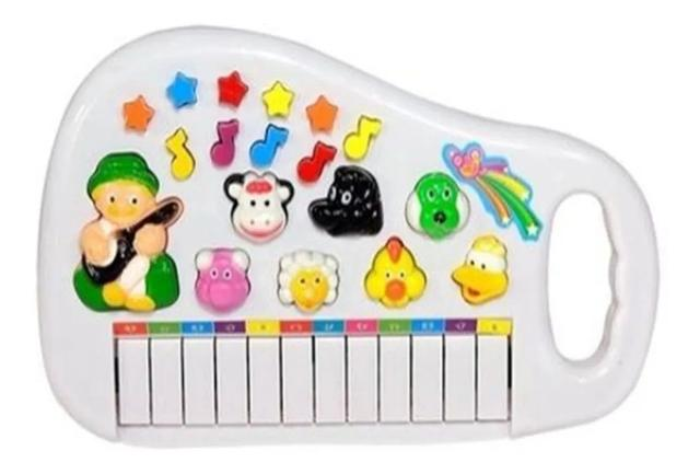 Imagem de Teclado divertido Piano Animal com som e luz.