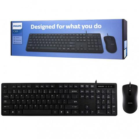 Kit Teclado e Mouse C201 Philips