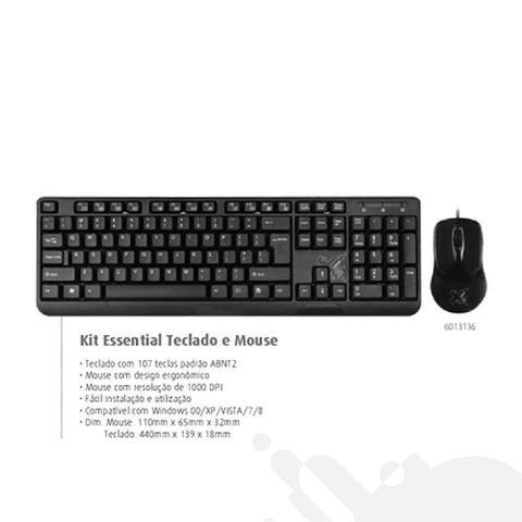 Imagem de Teclado e Mouse com fio USB Maxprint Essential Preto 6013136