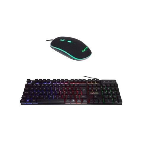 Imagem de Teclado e Mouse Gamer USB Com LED Colorido BK-G550 - Exbom