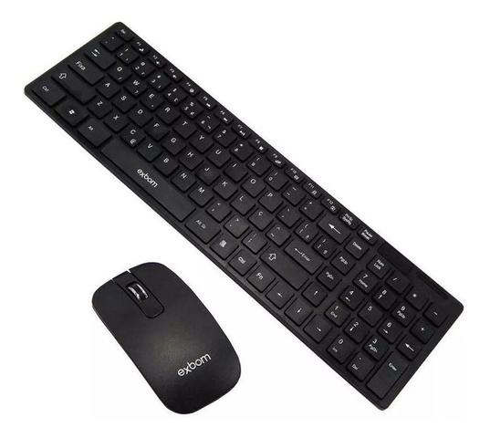 Kit Teclado e Mouse Sem Fio S1000 Exbom