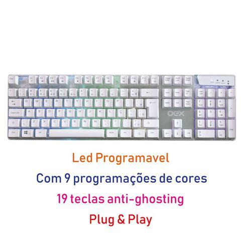Imagem de Teclado Game Oex Prismatic com Led Programável
