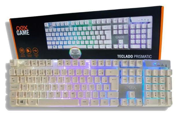 Imagem de Teclado Gamer Prismatic RGB Semi Mecânico OEX TC205