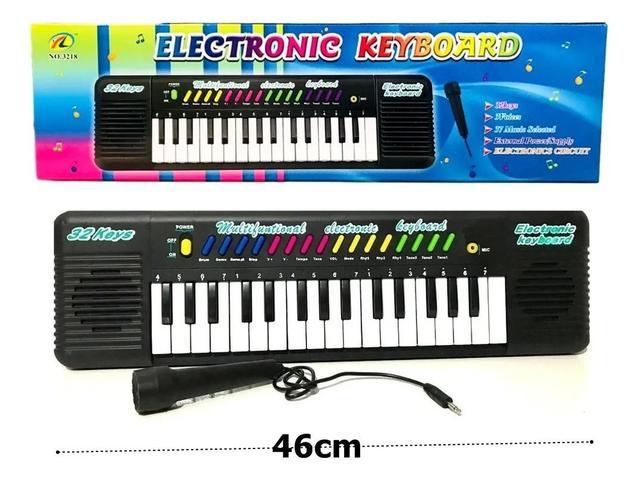 Imagem de Teclado Infantil Piano Brinquedo Musical Com Karaoke E Microfone Para Crianças!
