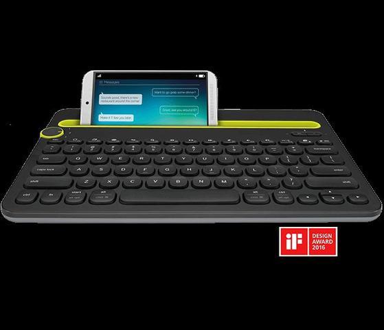 Imagem de Teclado Logitech Bluetooth K480 Multi-Device Tablet Preto