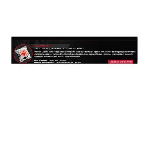 Imagem de Teclado Mecanico Gamer Kumara RGB Switch Vermelho K552RGB
