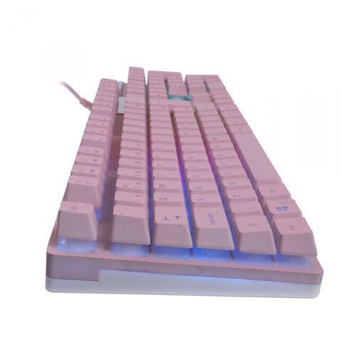 Imagem de Teclado Mecanico Gamer Pink Prismatic TC205 Rosa - OEX