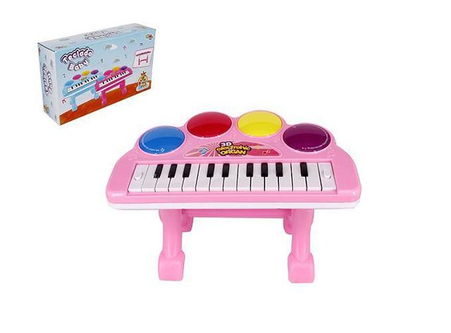 Imagem de Teclado piano baby musical infantil com suporte e luz