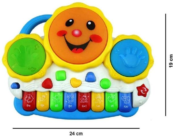 Imagem de Teclado Piano Musical Bebê Brinquedo Infantil Divertido Drum